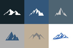 Mountain vector logos Royalty Free Stock Photography