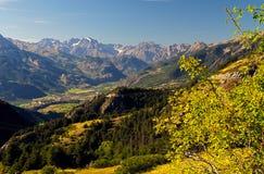Mountain View élevé sur l'Ecrins, France image stock