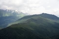 Mountain View Альпов стоковая фотография rf