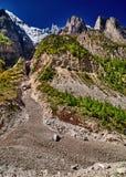 Mountain View в Гималаях Стоковое Изображение