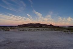 Mountain View захода солнца восхода солнца над пустыней Atacama Boli Altiplano Стоковая Фотография RF