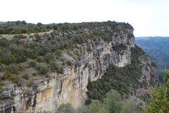 Mountain View от Tavertet, Каталонии Стоковые Фото