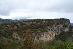 Mountain View от Tavertet, Каталонии Стоковое Фото