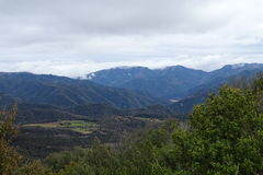 Mountain View от Tavertet, Каталонии Стоковая Фотография RF