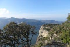 Mountain View от Tavertet, Каталонии Стоковые Фотографии RF