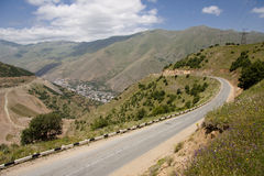 Mountain view. Empty route, view in Armenia Stock Images