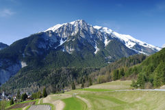 Mountain view. In the alps Royalty Free Stock Photography
