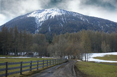 Mountain view. In the alps Royalty Free Stock Photo