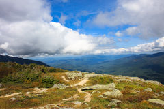 Mountain view. Beautiful view midway up Mount Washington Stock Photo