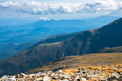 Mountain view. Beautiful view from Mount Washington looking down at the New Hampshire valleys below Stock Photography