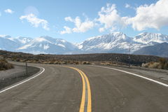 Mountain View. In the Nevada area of USA Stock Photography