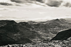 Mountain view. This is view from Carrantuohill the highest peak in Ireland Stock Photo