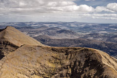 Mountain view. This is view from Carrantuohill the highest peak in Ireland, Europe Stock Images