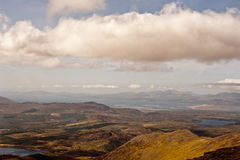 Mountain view. This is view from Carrantuohill the highest peak in Ireland, Europe Stock Image