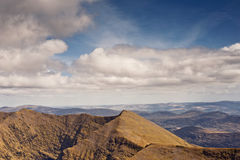 Mountain view. This is view from Carrantuohill the highest peak in Ireland, Europe Royalty Free Stock Images