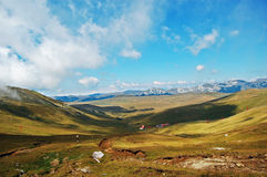 Mountain view. Bucegi National Park view - almost 2000 meters altitude stock image