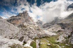 Mountain view. Dolomites of Brenta - Italy- Unesco Heritage Site Stock Photo
