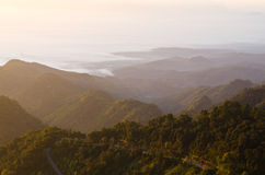 Mountain view. Beautiful mountain view in the moring Stock Image