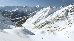 Mountain view (6), Serre Chevalier, France Stock Photo