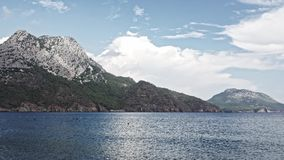 Mountain View in Adrasan, Antalya, die Türkei stock footage