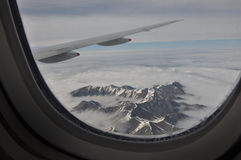 Mountain view from Aeroplane. Scenic mountain view of new Zealand Stock Image