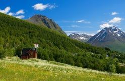 Mountain View agradable de Noruega. foto de archivo