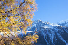 Mountain View in alpi francesi Fotografia Stock