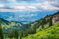 Mountain View in the Alps, Germany Stock Image