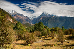 Mountain View Annapurna, Непал стоковые фото