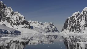 Mountain view in Antarctica stock footage