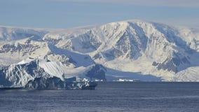 Mountain view in Antarctica stock video