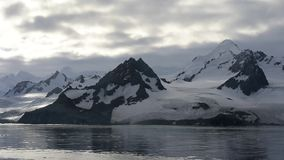 Mountain view in Antarctica stock video footage