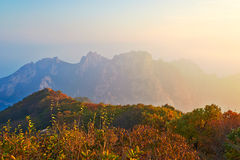 The mountain view of autumn of ancestral mountain. The photo taken in China's Hebei province qinhuangdao city,ancestral mountain scenic area,the queen mother Stock Photo