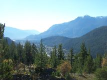 Mountain view in the Autumn time Royalty Free Stock Photography
