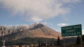 Mountain View av det Fremont passerandet Colorado arkivbilder