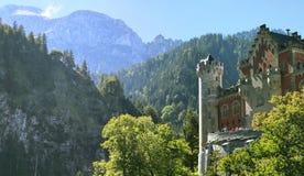 Mountain View avec le château Photographie stock