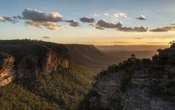 Mountain View azuis Austrália de Katoomba Imagens de Stock