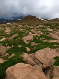 Mountain View. Beautiful View from Pike`s Peak Park in Colorado stock photography