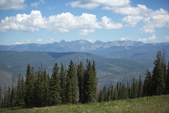 Mountain view at beaver creek Colorado royalty free stock photo