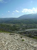 Mountain view, Berat, Albania Royalty Free Stock Photography