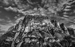 Mountain view in black and white.  Stock Photography