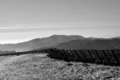 Mountain View blanco y negro Foto de archivo libre de regalías
