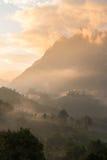 Mountain View bonito na manhã fotografia de stock