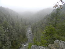 Mountain View brumoso Imagenes de archivo