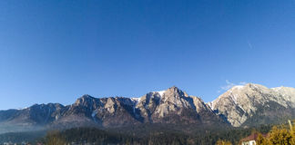 Mountain view in Busteni, Romania Royalty Free Stock Images