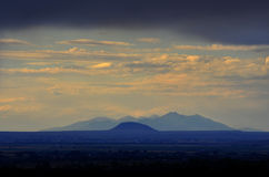 Mountain View of Buttes in Distance Stock Image