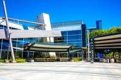 Mountain View, CA/USA - 21 Mei, 2018: Buitenmening van een Googleplex-gebouw, het collectieve hoofdkwartier complex van Google en royalty-vrije stock foto