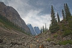 Mountain View in Canadian Rockies stock photos