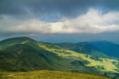 Mountain view. In carpathian mountains Ukraine royalty free stock images