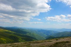 Mountain View Carpathians Foto de Stock